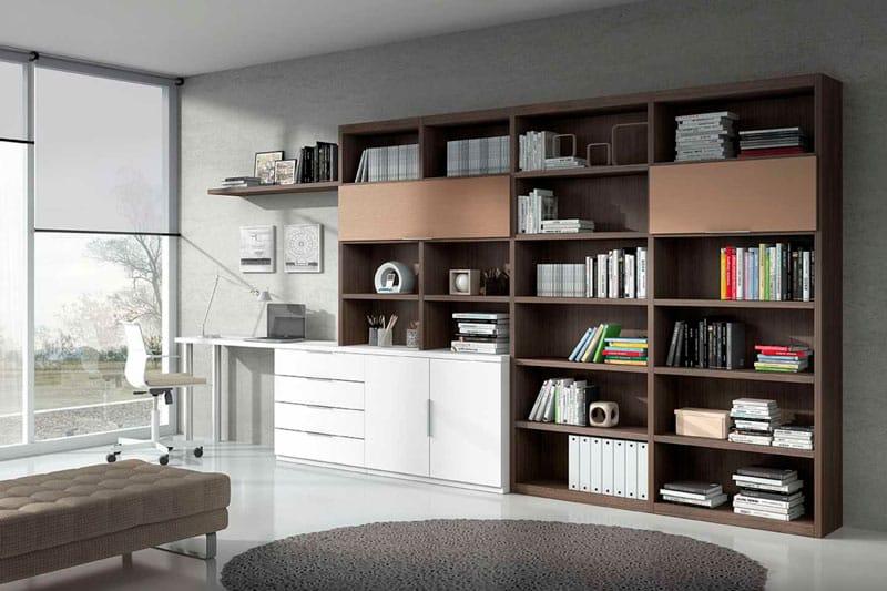 libreria con mesa incorporada ebano sonseca