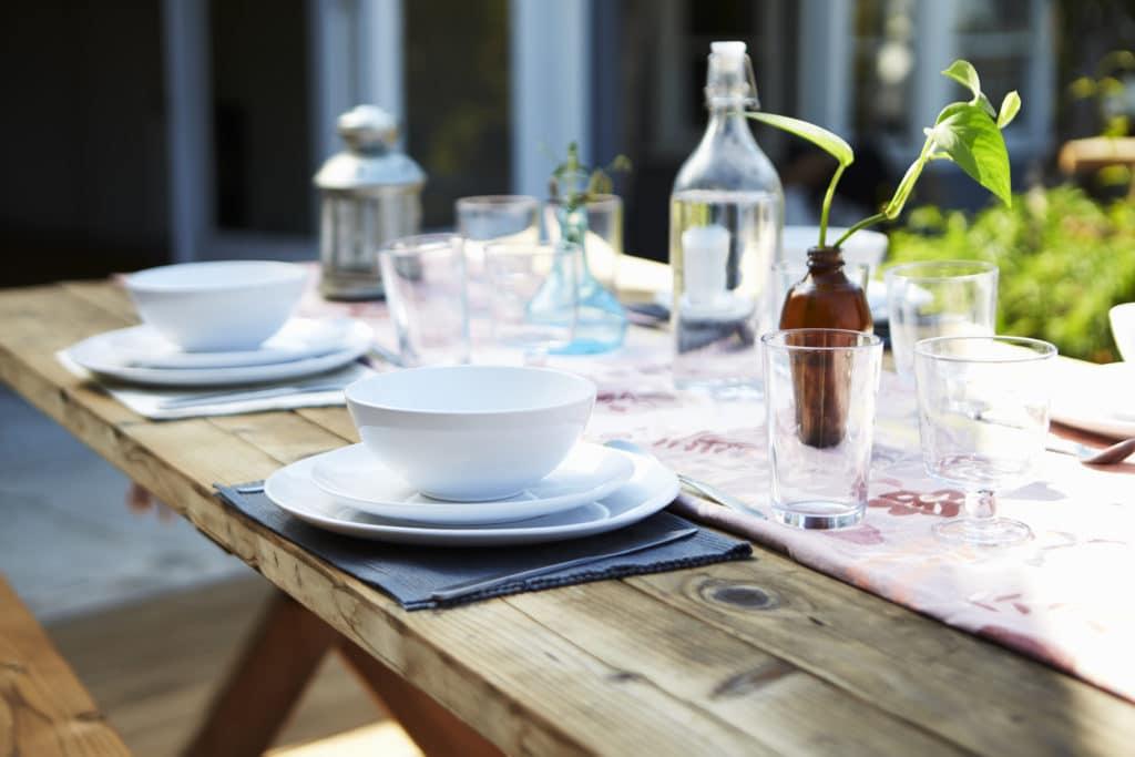 Mesa jardin para cena