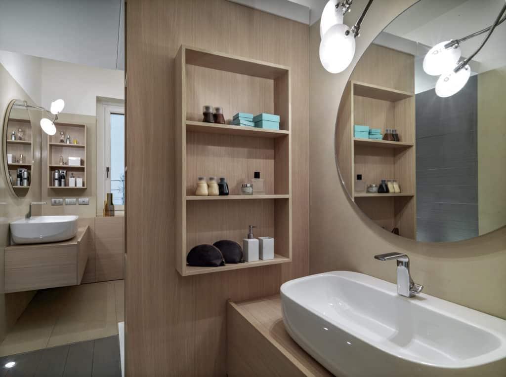 estanteria madera baño