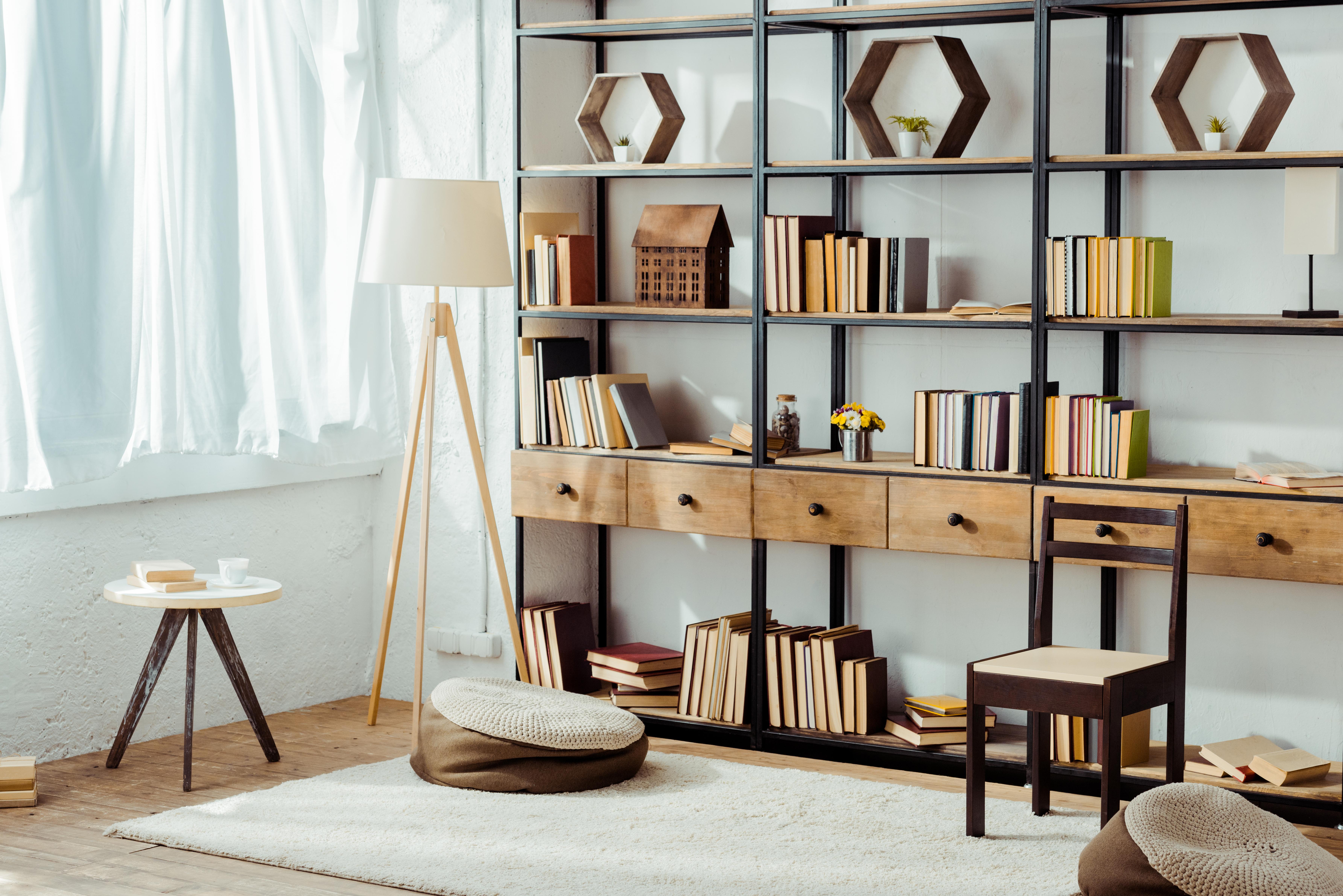 estanteria de madera moderna